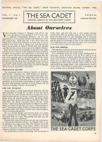 View individual pages of 'The Sea Cadet, No. 3, Vol. 3, November 1945'