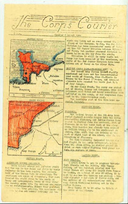 View individual pages of 'The Corps Courier Issues Aug 1944'