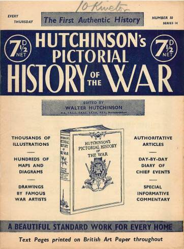 View individual pages of 'Hutchinson's Pictorial History of the War, Series 14 No 10'
