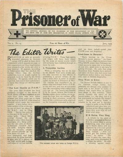 View individual pages of 'The Prisoner of War  No 14 Vol 2 June 1943'