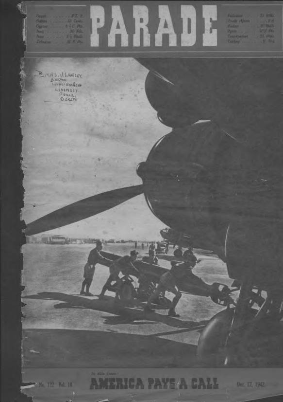 View individual pages of 'Parade  No 122 Vol 10 December 12th 1942'