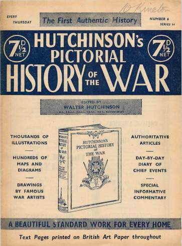 View individual pages of 'Hutchinson's Pictorial History of the War, Series 14 No 6'