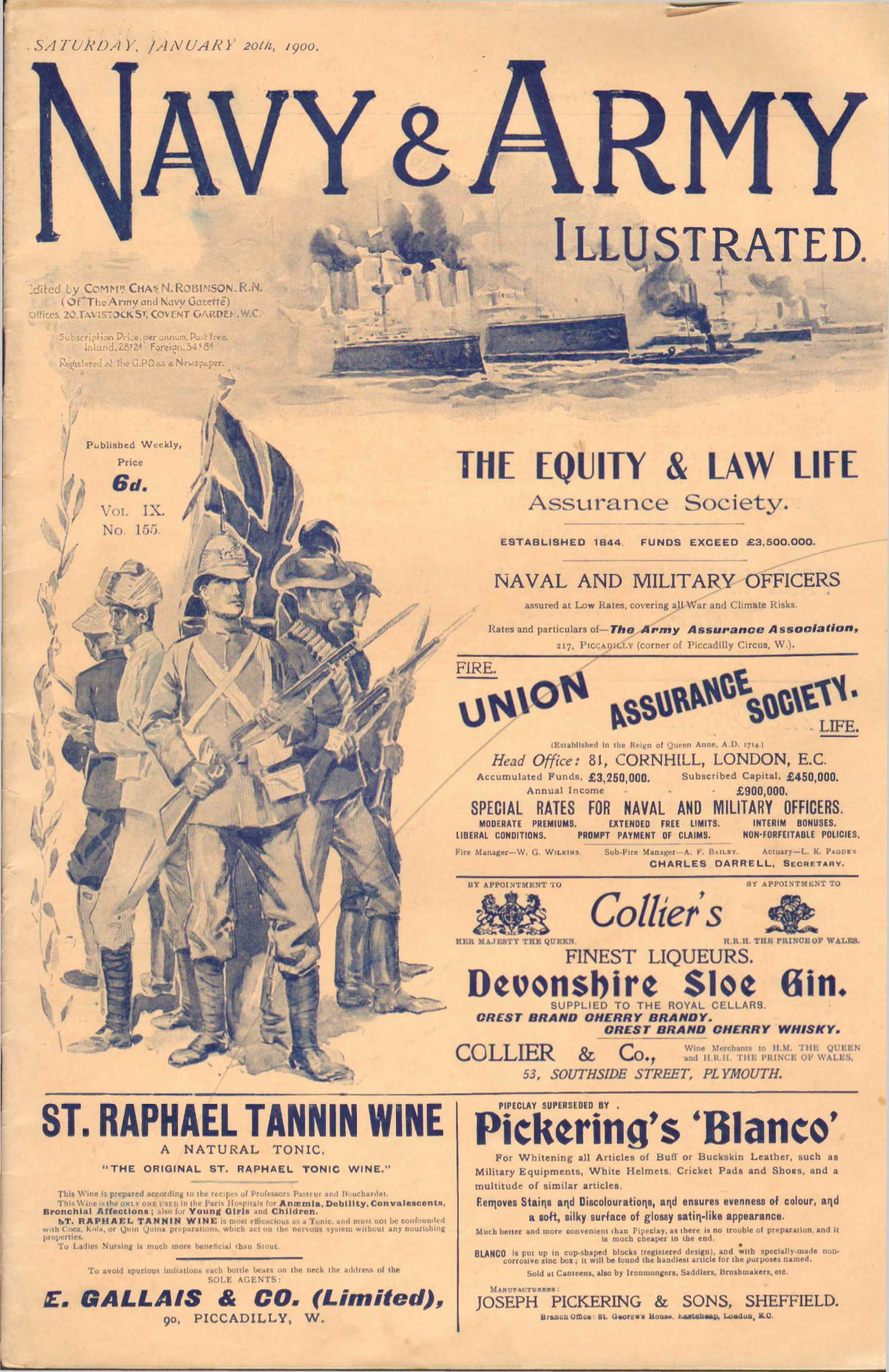 View individual pages of 'Navy & Army Illustrated - January 20th 1900'