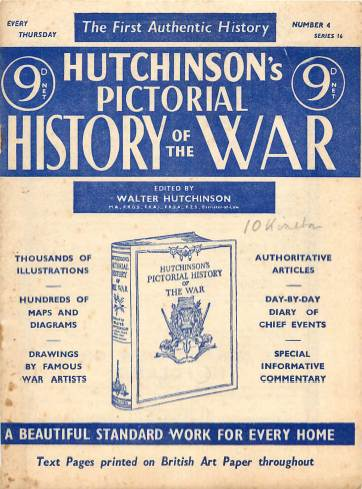 View individual pages of 'Hutchinson's Pictorial History of the War, Series 16 No. 4'