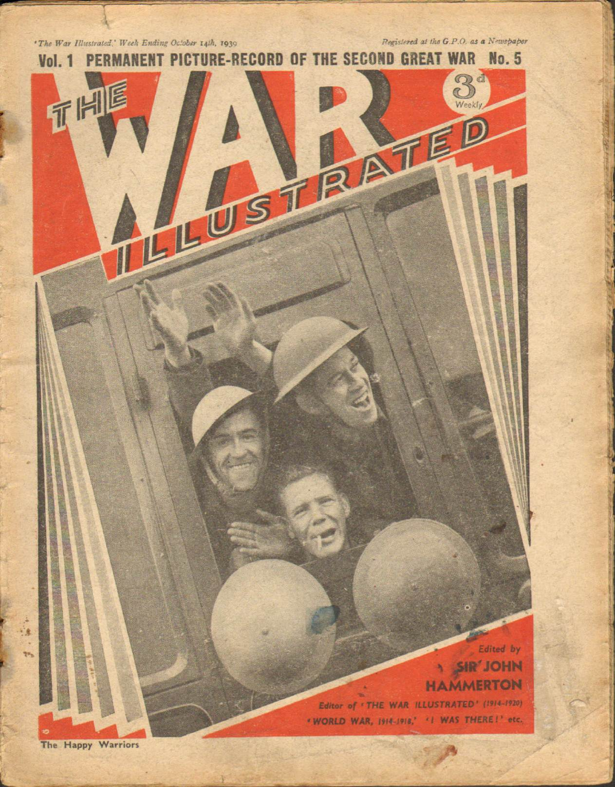 View individual pages of 'The War Illustrated  No 5 Vol 1 October 14th 1939'