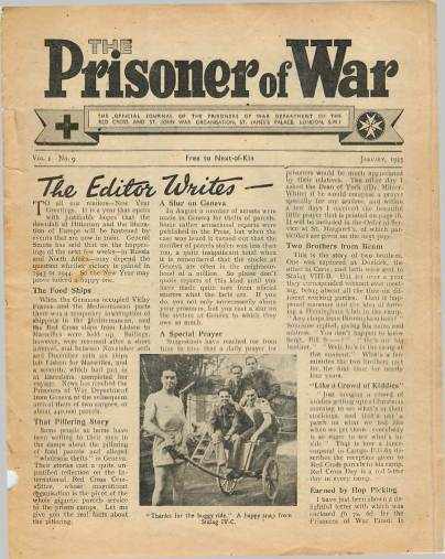 View individual pages of 'The Prisoner of War  No 9 Vol 1 January 1943'