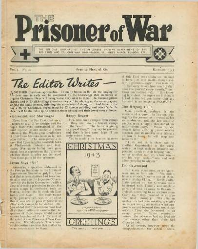 View individual pages of 'The Prisoner of War  No 20 Vol 2 December 1943'