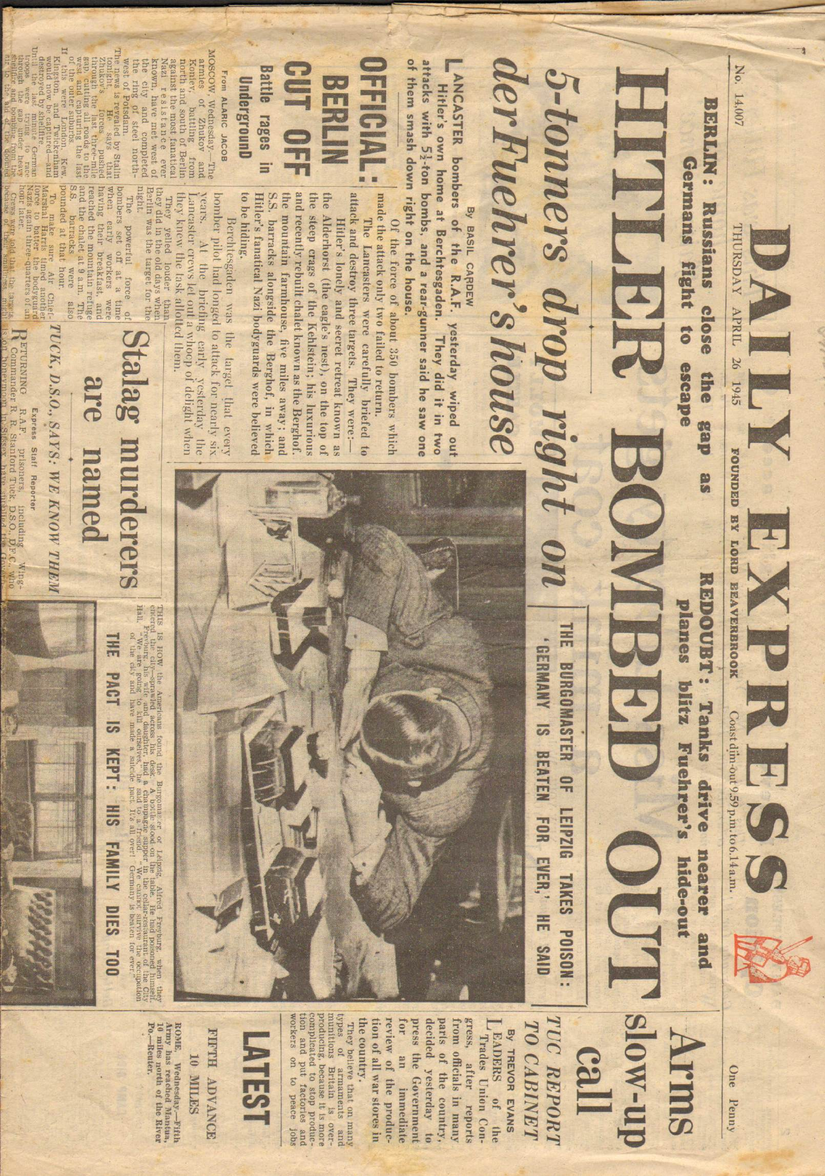View individual pages of 'Daily Express April 26th 1945'