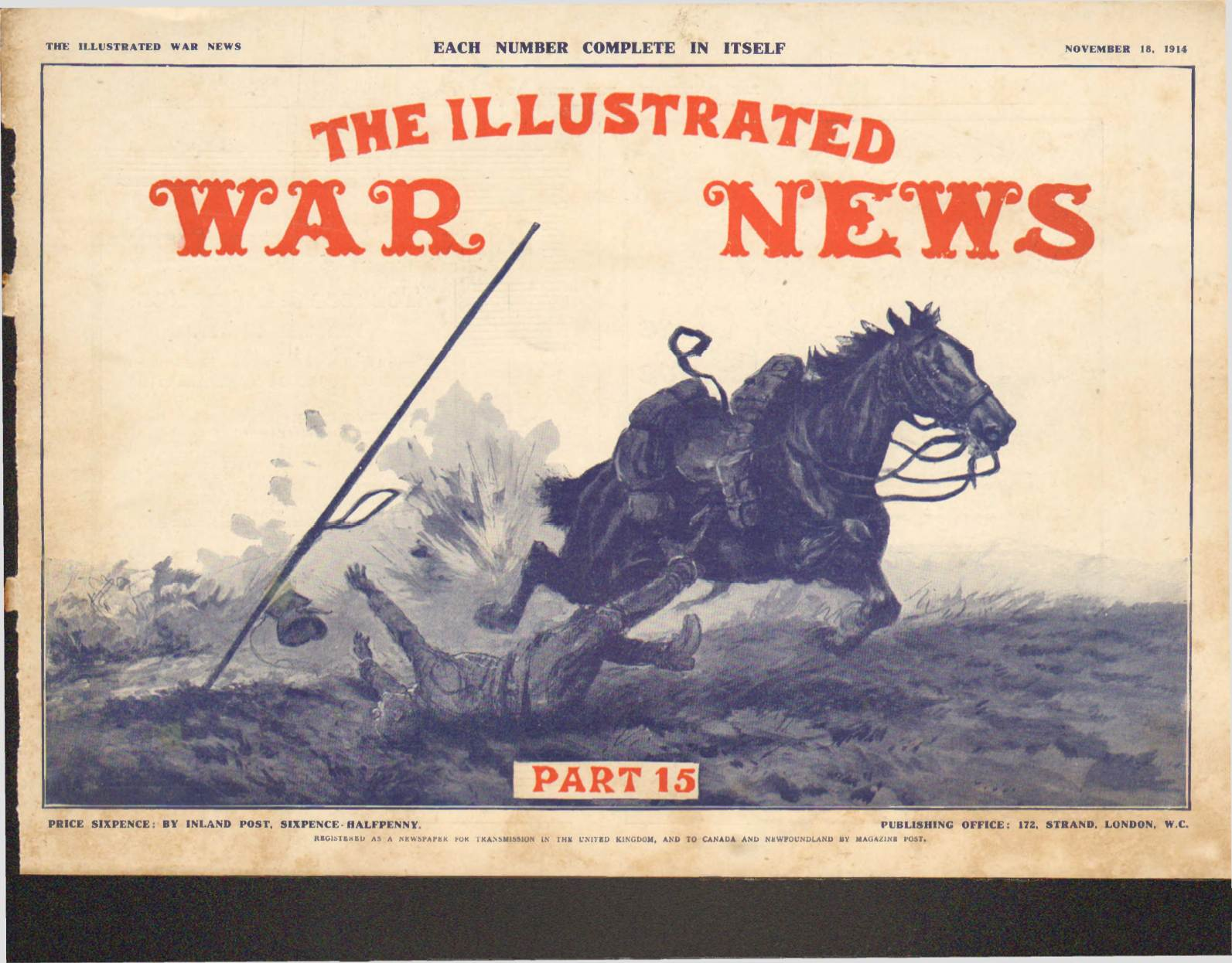 View individual pages of 'The Illustrated War News, Part 15, November 18th 1914'