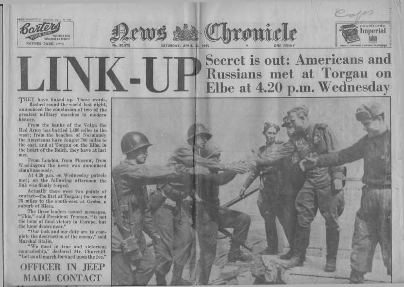 View individual pages of 'News Chronicle  April 28th 1945'