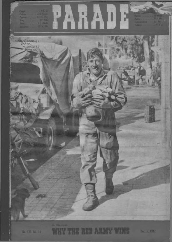 View individual pages of 'Parade  No 121 Vol 10 December 5th 1942'