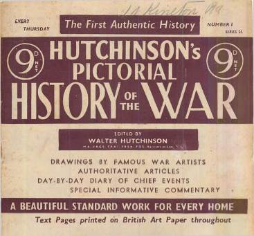 View individual pages of 'Hutchinson's Pictorial History of the War, Series 25 No. 1'
