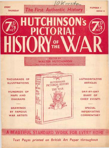 View individual pages of 'Hutchinson's Pictorial History of the War, Series 15 No 1'