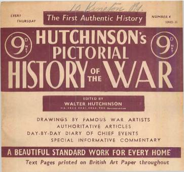 View individual pages of 'Hutchinson's Pictorial History of the War, Series 25 No. 4'