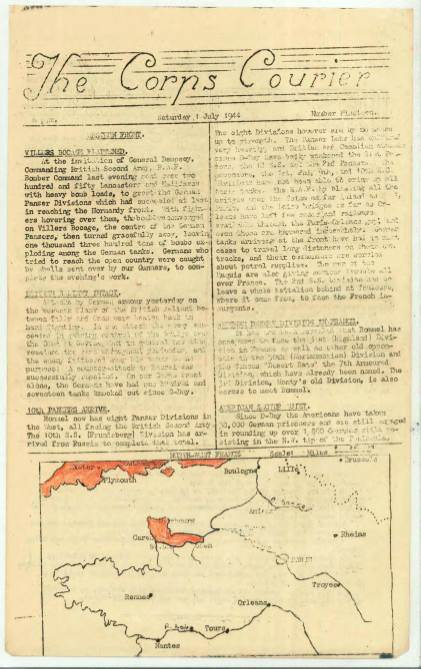 View individual pages of 'The Corps Courier Issues July 1944'