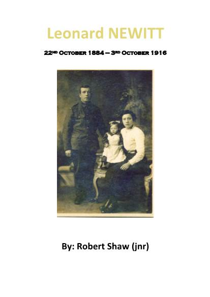 View individual pages of 'Leonard NEWITT  WWI War Diary South Staff Regt  and  Notts & Derby'