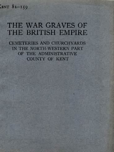 View individual pages of 'Memorial Register Kent 82-159, WW1, Cemeteries and Churchyards in North West Kent'