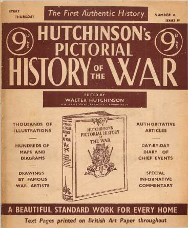 View individual pages of 'Hutchinson's Pictorial History of the War, Series 19 No 4'