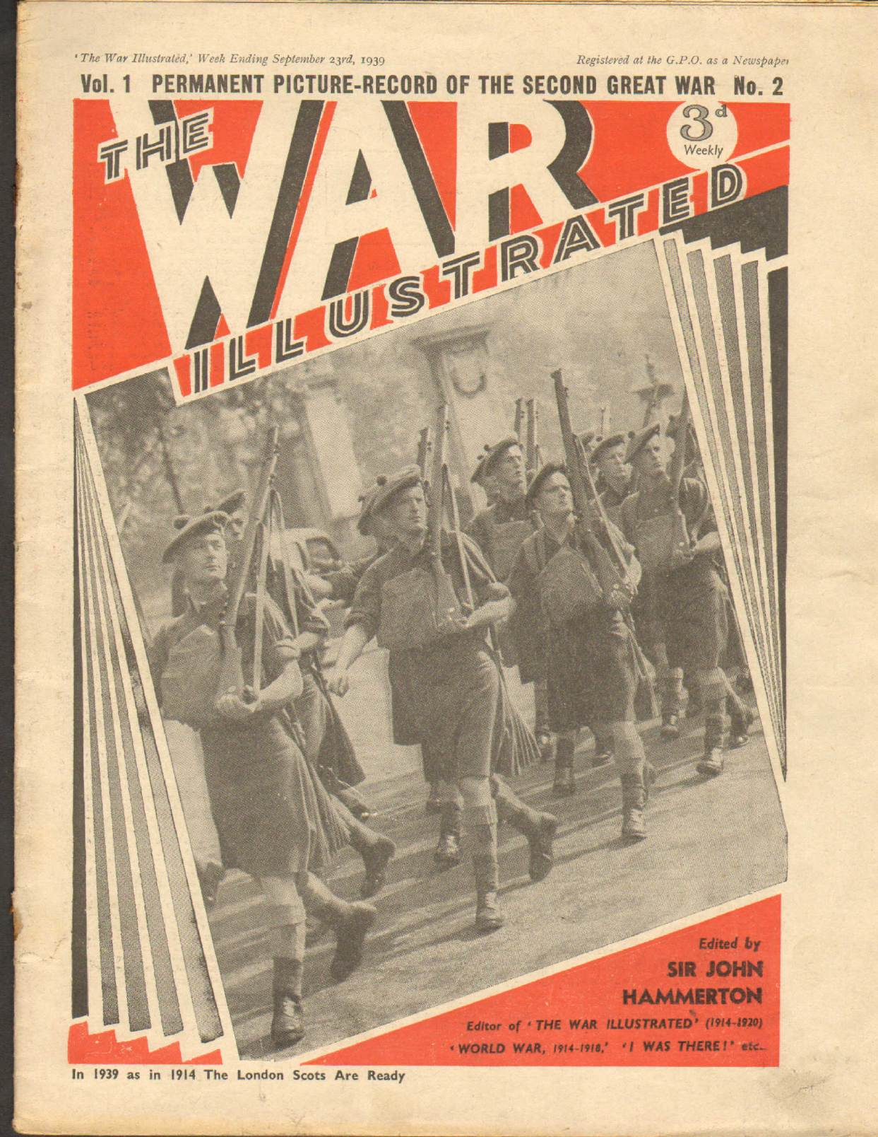 View individual pages of 'The War Illustrated  No 2 Vol 1 September 23rd 1939'