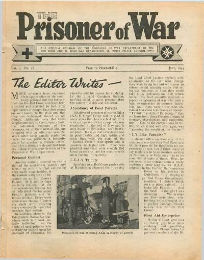 View individual pages of 'The Prisoner of War  No 27 Vol 3 July 1944'