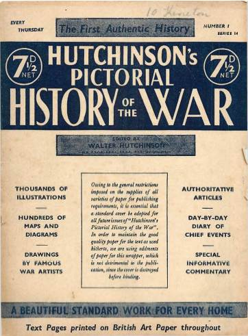 View individual pages of 'Hutchinson's Pictorial History of the War, Series 14 No 1'