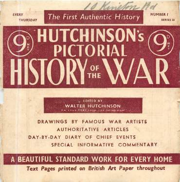View individual pages of 'Hutchinson's Pictorial History of the War, Series 23 No. 1'