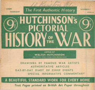 View individual pages of 'Hutchinson's Pictorial History of the War, Series 24 No.5'