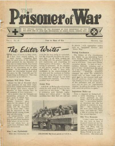View individual pages of 'The Prisoner of War  No 18 Vol 2 October 1943'