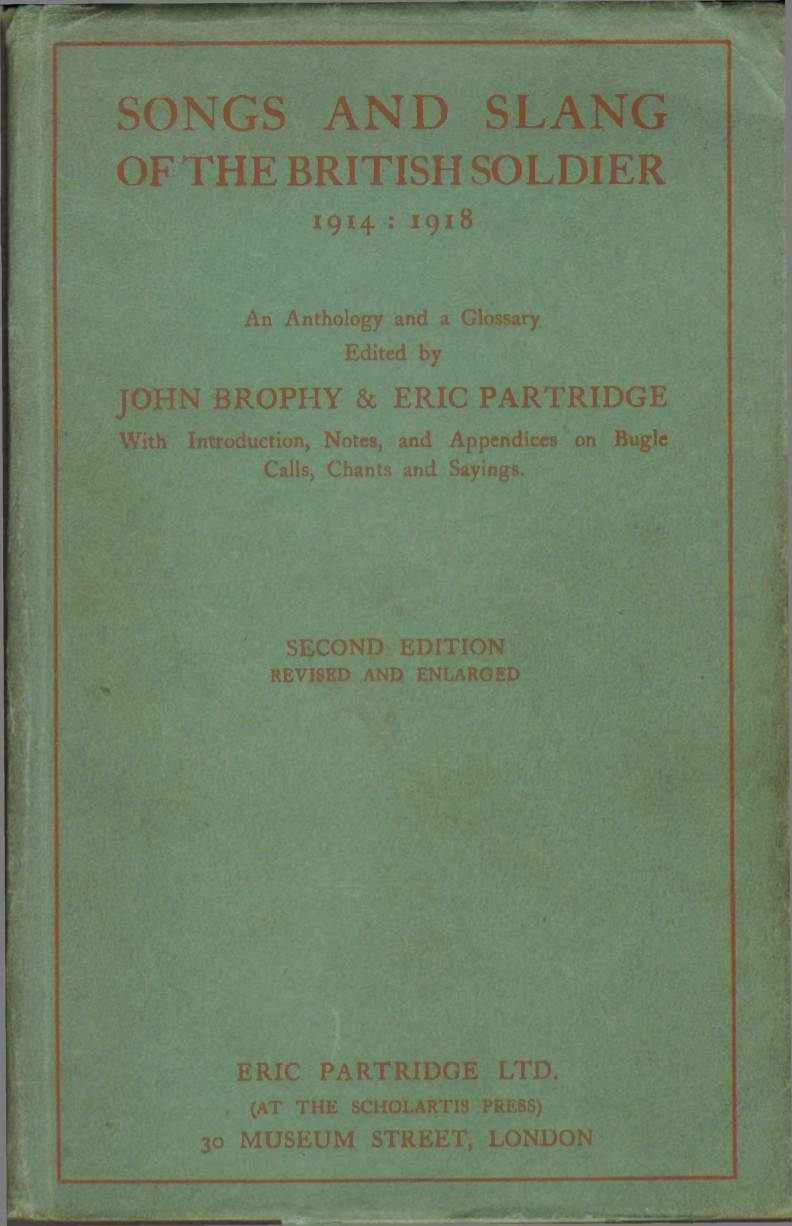 View individual pages of 'Songs and Slang of the British Soldier 1914 - 1918'