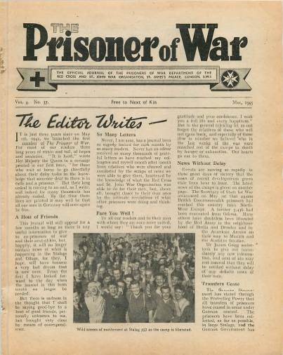 View individual pages of 'The Prisoner of War  No 37 Vol 4 May 1945'