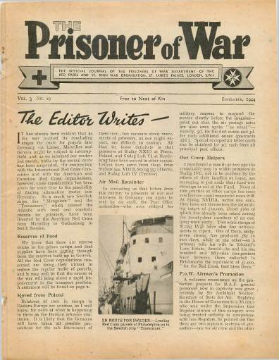 View individual pages of 'The Prisoner of War  No 29 Vol 3 September 1944'