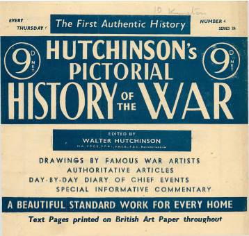View individual pages of 'Hutchinson's Pictorial History of the War, Series 26, No 4'