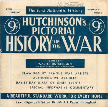 View individual pages of 'Hutchinson's Pictorial History of the War, Series 22 No. 9'