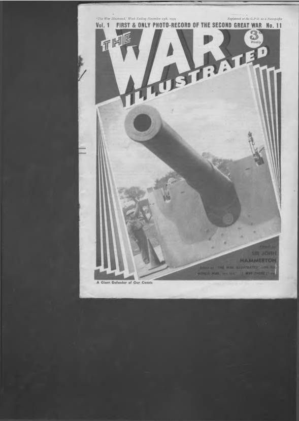 View individual pages of 'The War Illustrated  No 11 Vol 1 November 25th 1939'