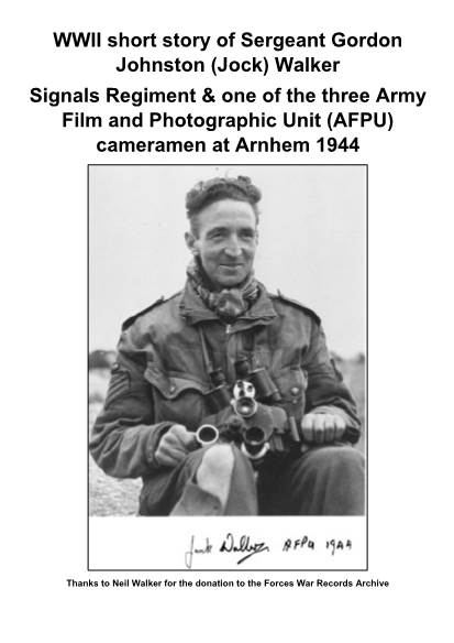 View individual pages of 'WWII short story of Sergeant Gordon Johnston (Jock) Walker'