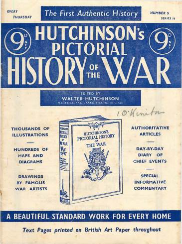 View individual pages of 'Hutchinson's Pictorial History of the War, Series 16 No. 5'
