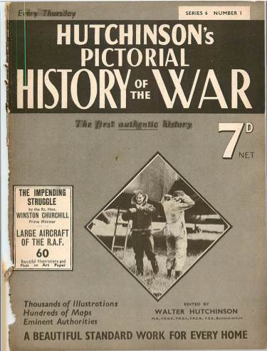 View individual pages of 'Hutchinson's Pictorial History of the War, Series 6 No. 1'