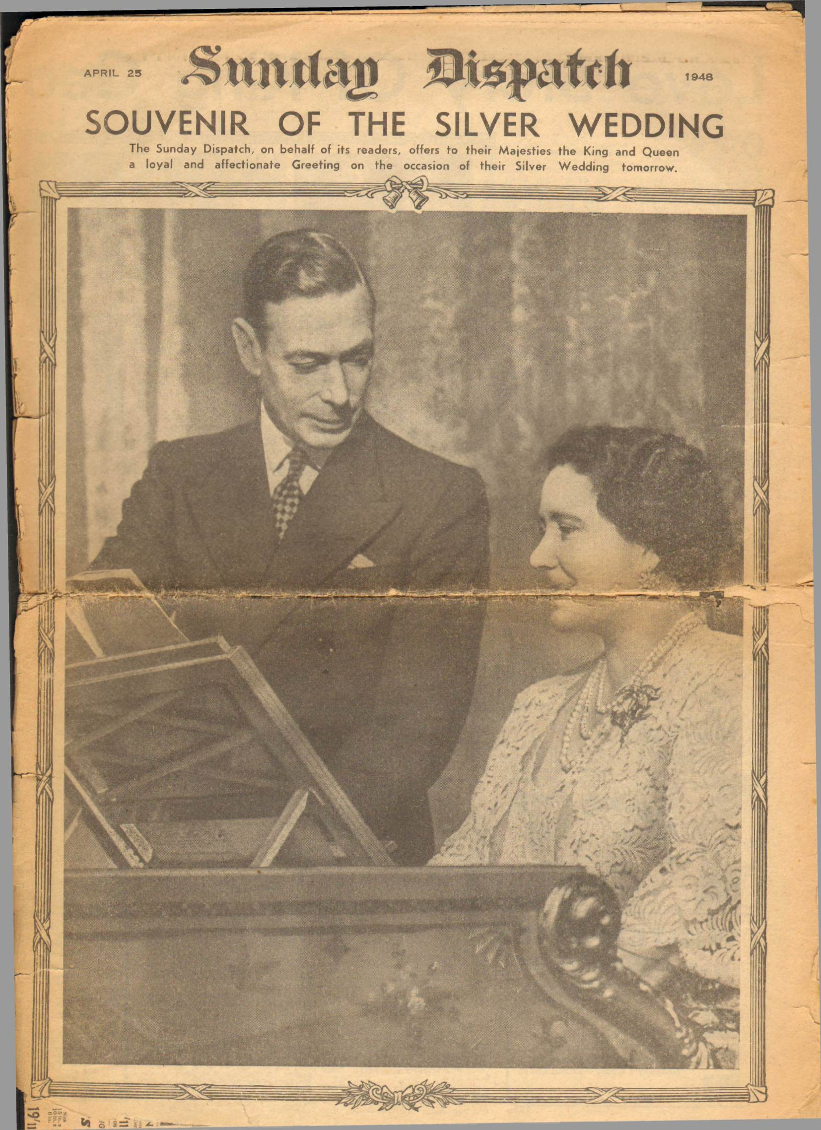 View individual pages of 'Sunday Dispatch, April 25th 1948, Souvenir of The Silver Wedding'