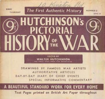 View individual pages of 'Hutchinson's Pictorial History of the War, Series 25 No. 2'