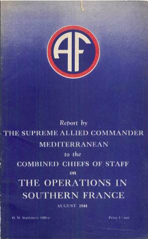 View individual pages of 'Report on The Operations in Southern France, August 1944'