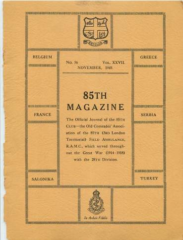 View individual pages of '85th Magazine - The Official Journal Of The 85th Club'