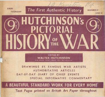 View individual pages of 'Hutchinson's Pictorial History of the War, Series 25, No. 9'