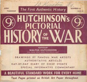 View individual pages of 'Hutchinson's Pictorial History of the War, Series 25, No 12'