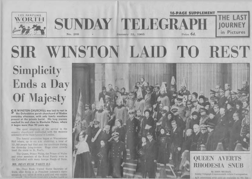 View individual pages of 'Sunday Telegraph  January 31st 1965'