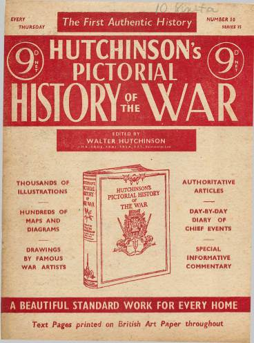 View individual pages of 'Hutchinson's Pictorial History of the War, Series 15 No 10'