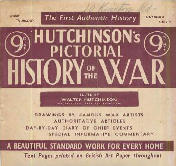 View individual pages of 'Hutchinson's Pictorial History of The War, Series 25, No. 8'