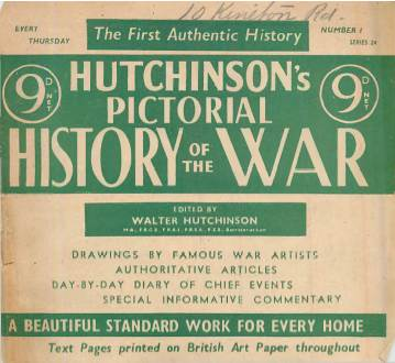 View individual pages of 'Hutchinson's Pictorial History of the War, Series 24 No.1'