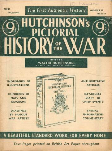 View individual pages of 'Hutchinson's Pictorial History of the War, Series 17 No 12'