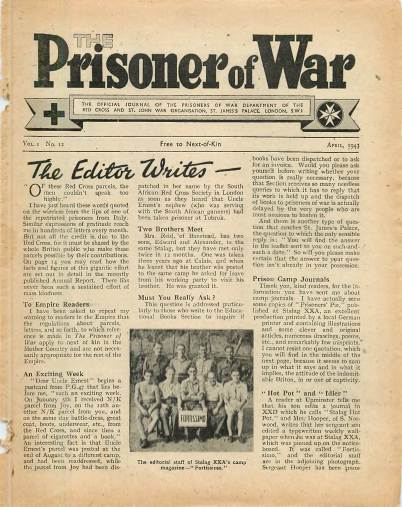 View individual pages of 'The Prisoner of War  No 12 Vol 1 April 1943'