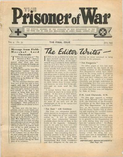 View individual pages of 'The Prisoner of War  No 39 Vol 4 July 1945'